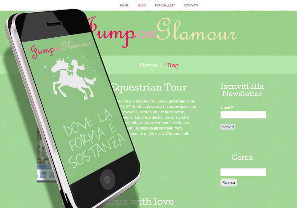 Sito web Jump on Glamour - Blog